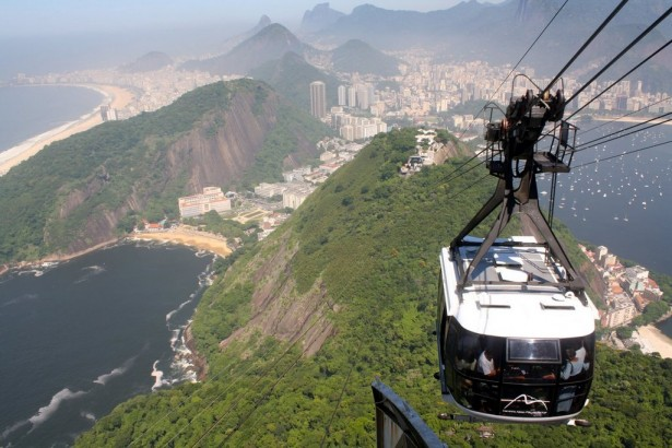 Spectacular cable car, Sugarloaf Mountain, Brazil