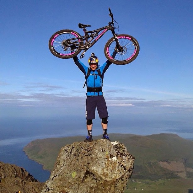Scottish  daredevil Danny MacAskill riding the Ridge.