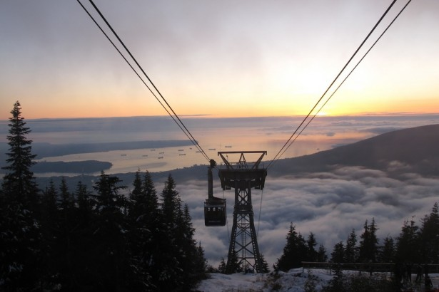 Grouse Mountain cable car ride, Vancouver, Canada