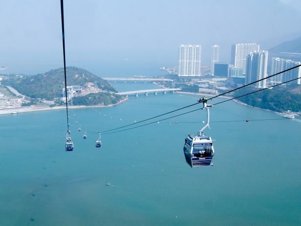 Amazing tramway Ngong Ping, China