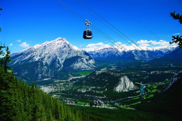Amazing gondola ride in Sulphur Mountain, Banff, Canada