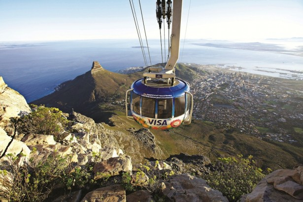Amazing cable car, Table mountain, Cape Town