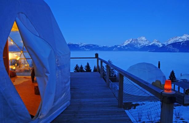 Winter holidays, Switzerland, Whitepod resort