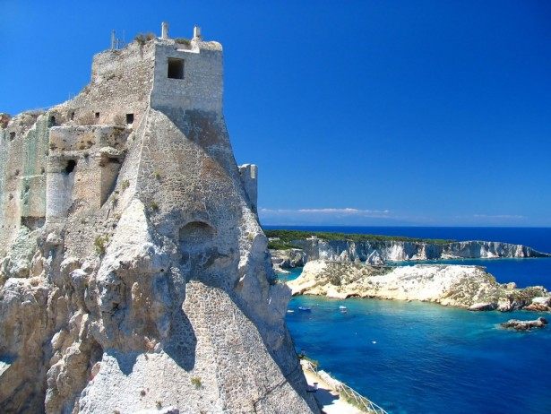 Saint Nicholas Castle in Tremiti Islands in Italy