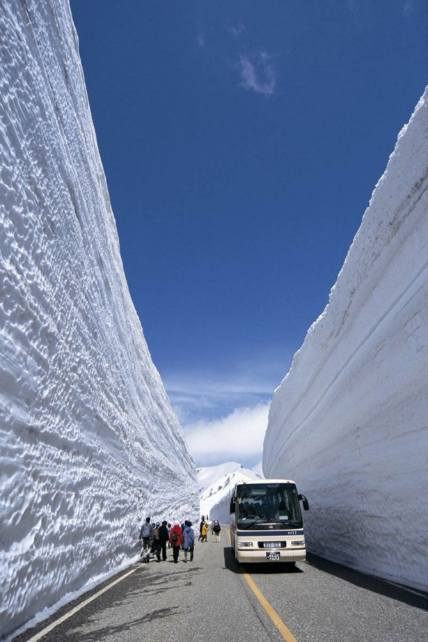 Enjoy the ride along the famous snow corridor in Japan, Tateyama Kurobe Alpine Route