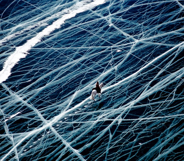 Frozen lakes and ponds, Siberia
