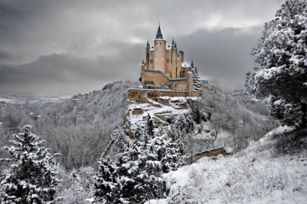 Alcazar of Segovia in Spain