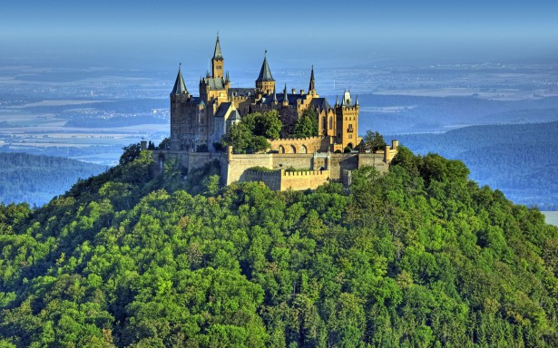Hohenzollern Castle in Germany, medieval castles