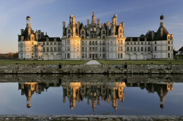 Château de Chambord in France, medieval castles