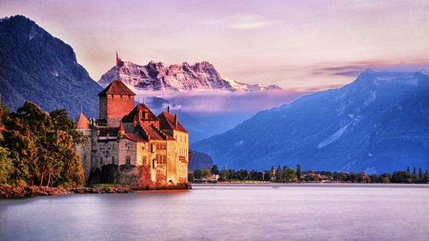 Chillon Castle in Switzerland