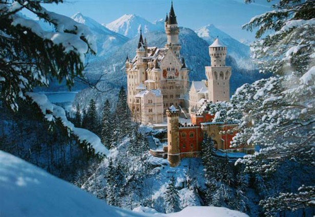 Neuschwanstein Castle in Bavaria in Germany