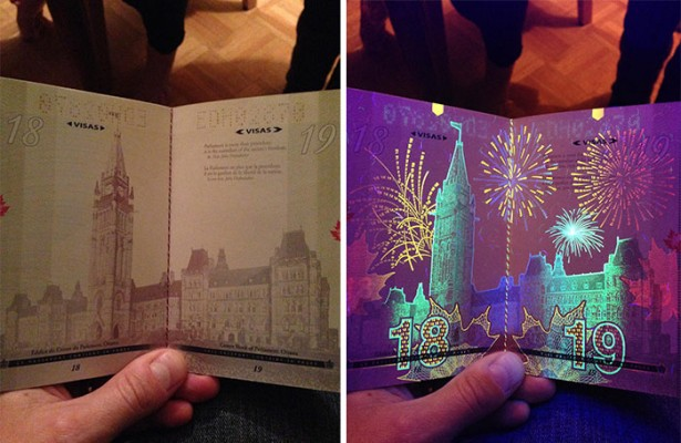 New Canadian passport finally reveals the secret.