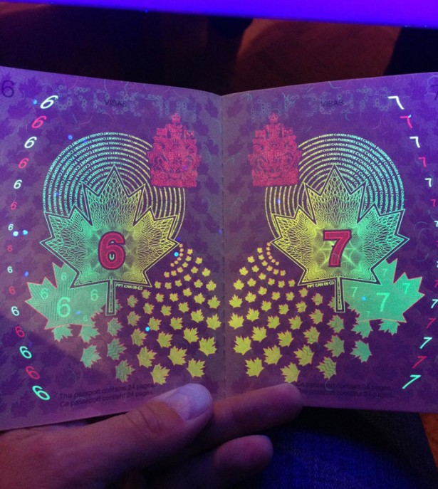 New Canadian passport finally reveals its secret.