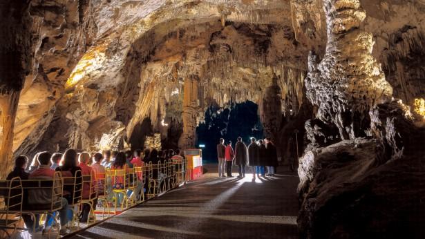 Postojna cave near Predjama Castle in Slovenia