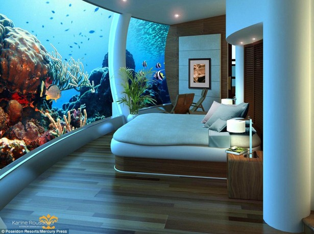 Unique hotels-Poseidon underwater resort in Fiji