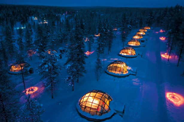 Unique hotels-Kakslauttanen hotel in Finland