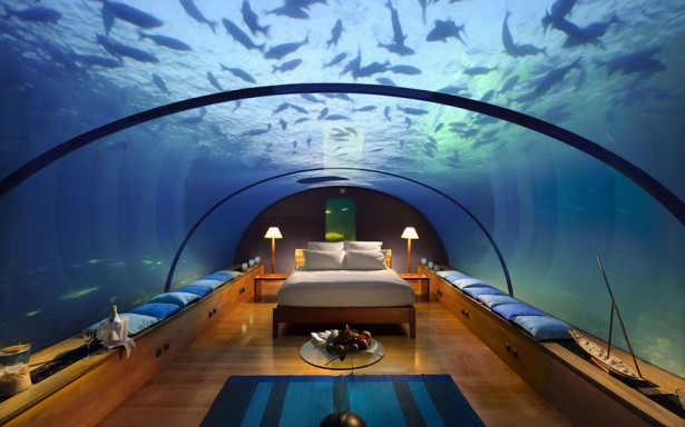 Unusual hotel in Maldives, Rangali Island