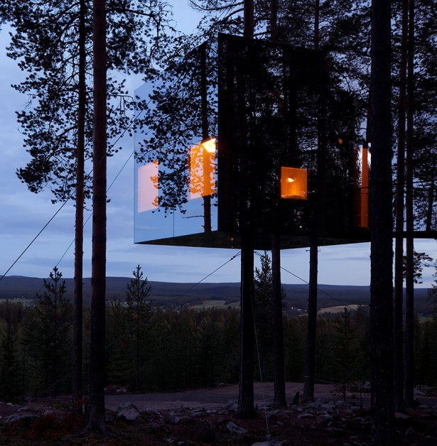 The Mirrorcube Hotel in Sweden