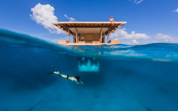 Unique hotels in Zanzibar floating