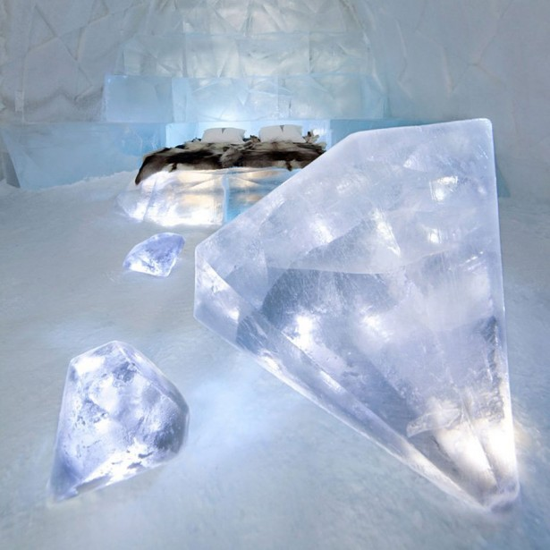Icehotel in Jukkasjarvi in Sweden