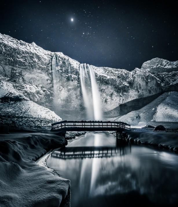 Seljalandsfoss Falls in Iceland, photo by Derek Kind