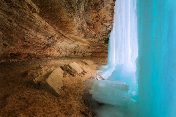 Minnehaha Falls in Minnesota, photo by Max Foster