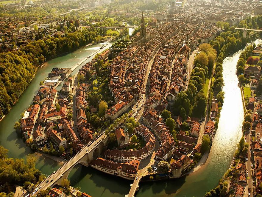 Best aerial photography of Bern in Switzerland