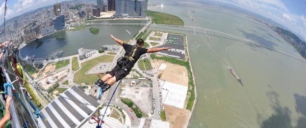 If you are an adventurous spirit, bungee jumping from the Macau Tower in  China. is a perfect choice for you