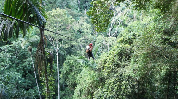 Image presents zip lining in Costa Rica for true adventurous spirit