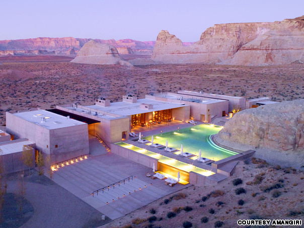 Amangiri pool in Utah has one of the most amazing swimming pools in the world.