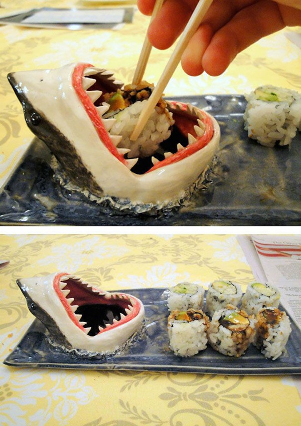 Shark sushi plate is one of the coolest kitchen gadgets