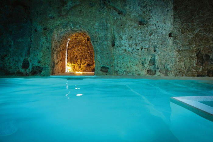 Domus Civita cave pool is one of the most amazing swimming pools in the world.