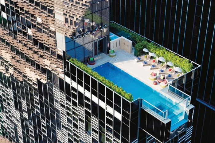 Hotel Indigo in Hong Kong has one of the most amazing swimming pools in the world.