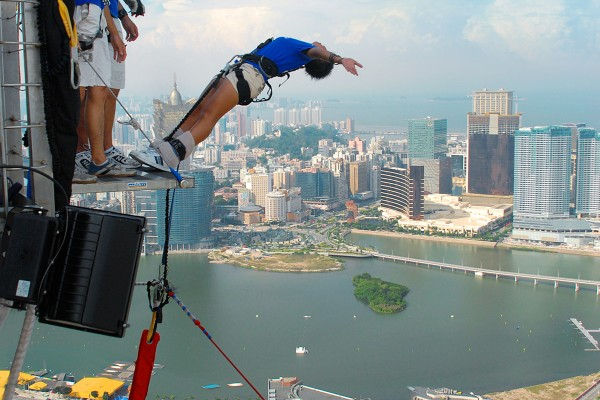 Bungee jumping as one of the activities for a true adventurous spirit.