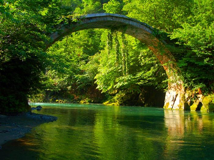Mtirala Bridge in Georgia is one of the World's most magical old bridges