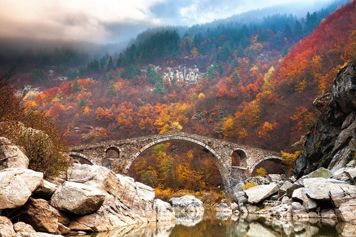 Devil's Bridge In Rhodope Mountains in Bulgaria is one of the World's most magical old bridges