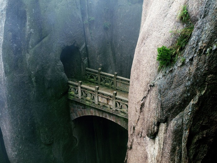 Huangshan, Anhui, China is one of the World's most magical old bridges
