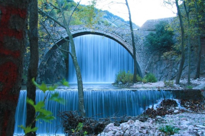 Palaiokaria's Bridge in Greece is one of the World's most magical old bridges