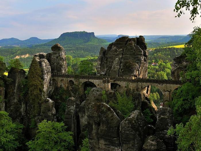 Basteibrücke, Saxon Switzerland, Germany is one of the World's most magical old bridges