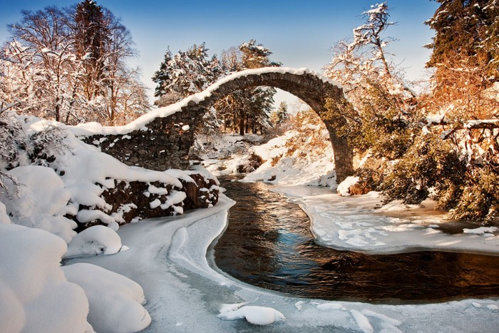 Carrbridge in Scotland is one of the World's most magical old bridges