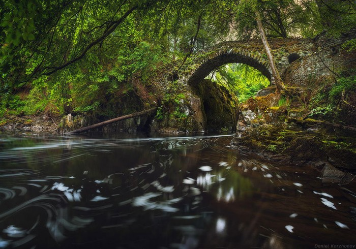 Hermitage Bridge in Scotland is one of the World's most magical old bridges
