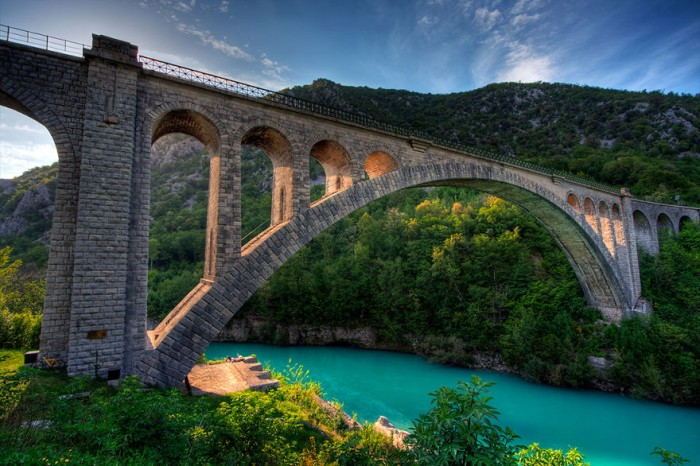 Solkan Bridge in Slovenia is one of the World's most magical old bridges