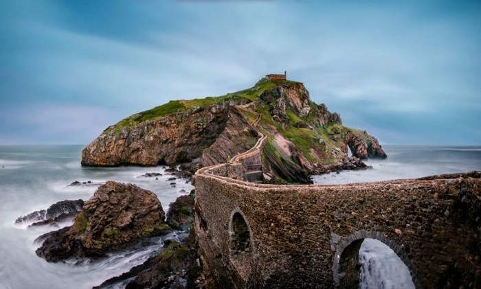 Gaztelugatxe, Spain is one of the World's most magical old bridges