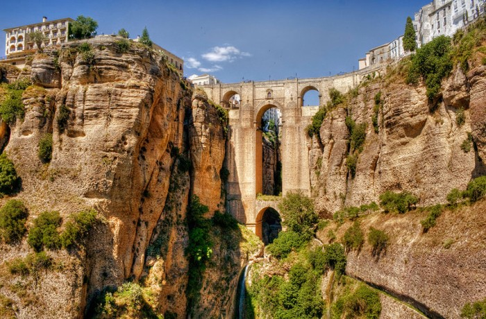 Ronda, Malaga in Spain is one of the World's most magical old bridges