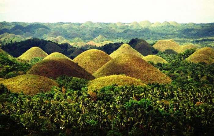 Chocolate Hills are one of the most attractive places to visit in the Philippines.