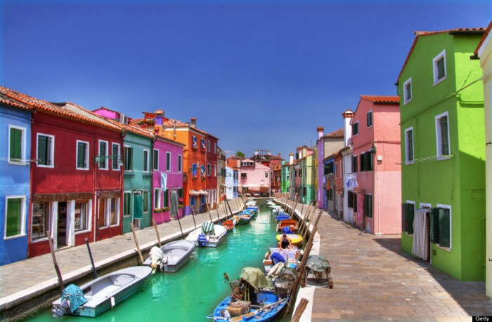 Best places to visit in Italy, Burano in The Venetian Lagoon