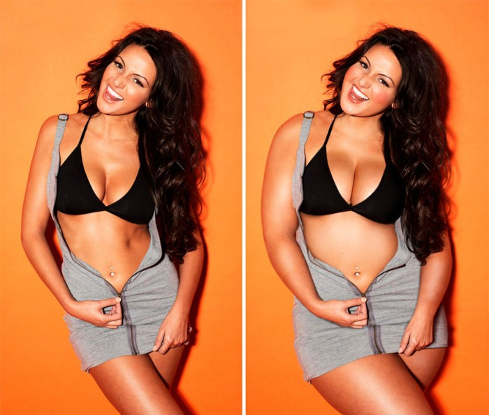 Michelle Keegan is one of the plus size celebrities photoshopped by David Lopera