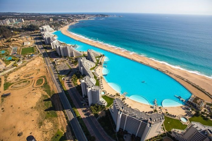 San Alfonso Del Mar in Chile has one of the most amazing swimming pools in the world.