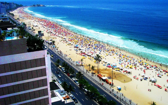 Copacabana Beach is one of the tourist attractions in Brazil you must visit.