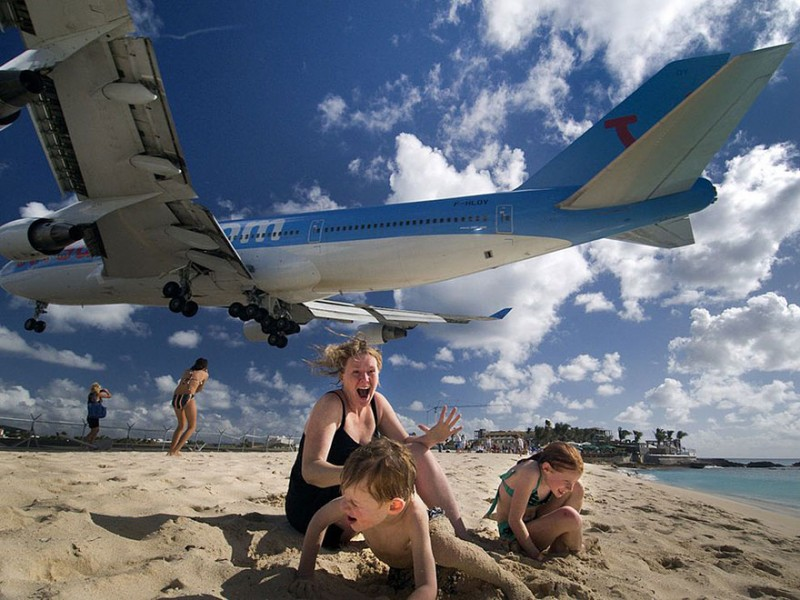 Maho Beach in St. Martin
